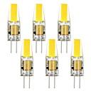 3W G4 LEDコーン型電球 T 1 COB 250 lm 温白色 / クールホワイト 装飾用 DC 12 / AC 12 V 6個