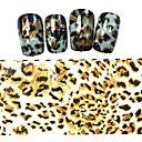 5ks nový 100x4cm 2016 leopard pruhovaný vzor třpytky na nehty fólie nail art samolepky kutilství dekorace stzxk59