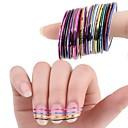 10 barev valí prokládání páska linie nail art samolepky nástroje kosmetické dekorace pro on nehtů samolepky