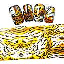 5ks nový 100x4cm 2016 leopard proužek pruhy třpytky na nehty fólie pro kutily ozdoby nail art samolepky stzxk58