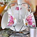 keramický šálek čaje 2 * 3ks odpolední čaj porcelán Britský styl náhodné barvy
