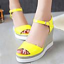 Ženske cipele-Sandale-Formalne prilike-Umjetna koža-Puna potpetica-Pune pete / Ravne platformke / Salonke s remenčićem / Cipele otvorenih