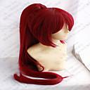 bez krytky červená cosplay paruka Super dlouhé přímé syntetické vlasy, paruky animované stran paruky s copem