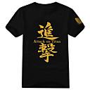 Inspirirana Napad na Titanu Eren Jager Anime Cosplay nošnje Cosplay majica Print Crna Kratki rukav T-majica