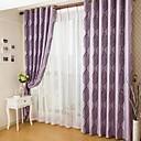 Dvije zavjese Prozor Liječenje Zemlja , Dungi Living Room Polyester Materijal Blackout Zavjese Zavjese Početna Dekoracija For Prozor