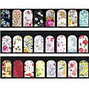 Cvijet-Ostale dekoracije- zaPrst / nožni prst-7cm*13cm each piece-5pcs mix random water nail stickerskom. -PVC