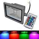 20W LEDフラッドライト 1 COB 1500-1600 lm 温白色 / クールホワイト / RGB リモコン操作 / 防水 AC 85-265 V 1個
