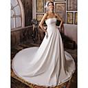 Lanting Bride® ボールガウン 小柄 / 大きいサイズ ウェディングドレス - クラシック/タイムレス ビンテージ チャペルトレーン ストラップレス シフォン とともに ビーズ