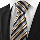 メンズ ヴィンテージ / キュート / パーティー / オフィス / カジュアル ネクタイ,コットン / ポリエステル / レーヨン ストライプ,オールシーズン
