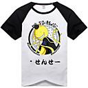 Inspirovaný atentát Classroom Korosensei Anime Cosplay kostýmy Cosplay T-shirt Tisk / Patchwork Czarny Krátké rukávy Trička