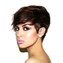 Lidské vlasy paruky strojově vyrobené Glueless lidské vlasy krátké paruka norkové brazilské panenské vlasy krátké paruky pro černé ženy