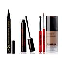 rood&zwart oog make-up set super zwarte eyeliner extra volume mascara wenkbrauw crème kit
