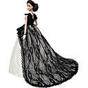 パーティー/イブニング ドレス ために バービー人形 ホワイト / ブラック ドレス のために 女の子の 人形玩具