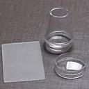 カバーシール+ビッグスクレーパー3.8センチメートル透明シリコーンヘッド付き透明エイリアン