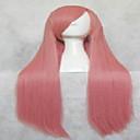 populární růžové umělých vlasů ženské cosplay paruka dlouhé rovné animovaný paruky karikatura paruky párty paruky full paruka