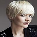 popularni elegantan stranka vlasulja bijela boja kratke kovrčave kose perika sintetička Cosplay perika