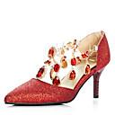 Ženske cipele-Salonke / štikle-Vjenčanje / Formalne prilike / Zabava i večer-Šljokice / Umjetna koža-Stiletto potpetica-Štikle / D'Orsay