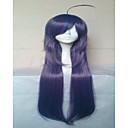 stilski ljubičasta cosplay vlasulja sintetičke kose perika duge ravne animirani perika stranka perika 015c