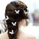 Žene Prodavačica cvijeća Legura Imitacija Pearl Glava-Vjenčanje Special Occasion Pin kose 4 komada