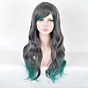 ženske moderne multi-boji duge dužine vrhunske kvalitete sintetička perika