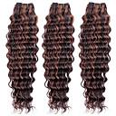 3pcs 113g, top super 100% Brazilski Kosa sirovom djevica ljudske kose plete kose potke, novi val, duboko prirodni šarene kose