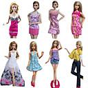 Princeza Kostimi Za Barbie lutka Ljubičasta / Bijela Print Haljine / Suknje / Hlače / Tops