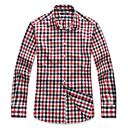 Le Smart Muškarci Kragna košulje Dugi rukav Shirt & Bluza Srebrna - SW14161