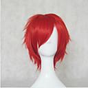 Nový přírůstek červené syntetické vlasy, paruky krátkými kudrnatými přírodní animovaný paruky cosplay paruka párty paruky