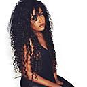 Glueless kudrnatý krajky vpředu lidské vlasy paruka panna 26inch mongolian lidské vlasy plné hustota přední krajky paruka pro černé ženy