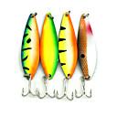 """5pcs ks Lžíce / Kovové návnady Náhodně vybraná barva 18G g/5/8 Unce,72mm mm/2-7/8"""" palec,KovMořský rybolov / Rybaření ve sladkých vodách"""