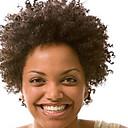 ファッション10-28inch変態アフロカーリー自然な色100%ブラジルの人間の髪の毛のかつらレースフロントウィッグ