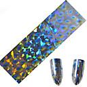 1pcs 100 * 4cm nail art transfer svjetlucavo naljepnice DIY geometrijski čarobna boja val pero slike nail art dizajn cs9-12