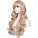 luonnollinen pitkät vaaleat värit suosittu aalto synteettinen peruukki nainen