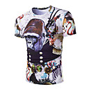 Men's Short Sleeve T-Shirt,Cotton Casual / Sport Print