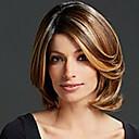 multi-color střední dlouhá vysoce kvalitní vlnité vlasy žena elegantní móda stín syntetického celebrity paruky
