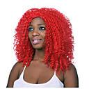 módní červená barva středně dlouhé nejvyšší kvalita syntetické paruky