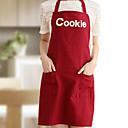 100% bavlna zástěry kuchyň vaření s cookie stylem 2 barvy (červená béžová)