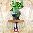 americký loftového stylu country retro nástěnná police železné průmyslové potrubí dřevo vinobraní potrubí police dřevěné police flower