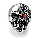 Prsten Nerez Skull shape Punkový styl Stříbrná Šperky Halloween Denní Ležérní Sport Vánoční dárky 1ks