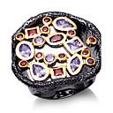 Prstenje Kubični Zirconia Round Shape Moda Vjenčanje / Party / Dnevno / Kauzalni Jewelry Žene Klasično prstenje 1pc,6 / 7 / 8 / 9Crna /