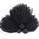 インドアフロ変態カーリーバージン人毛織りの3pcs / lotの100%未処理の人間の髪は非常に柔らかいカール