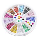 12 boja nail art kristala sjaj vještački dijamant cvijet manikura kotača Studs