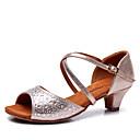 Na míru-Dětské-Taneční boty-Latina-Satén-Kubánský-Modrá / Jiná