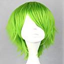 antény bez patice zelený kostým paruka syntetické krátké kudrnaté vlasy paruka cosplay paruka 3 barvy