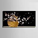 Módní a moderní Květiny Nástěnné hodiny,obdélníkový Plátno 30 x 60cm(12inchx24inch)x1pcs/ 40 x 80cm(16inchx32inch)x1pcs Vevnitř Hodiny