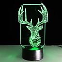 1pc touch 3 d dovela šarene vizija žarulje promjena poklon atmosfera stolna svjetiljka u boji noćno svjetlo