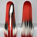 100 cm dlouhý harajuku gradientní cosplay paruky mladí dlouhé přímé syntetické paruky vlasy paruka kostým party pro ženy 4 barvy