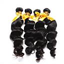 3個 ルーズウェーブ 人間の髪織り ブラジリアンヘア 95-100g 12''-24'' 人間の髪の拡張機能