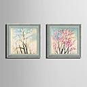 Cvjetni / Botanički Uokvireno platno / Uokvireni set Wall Art,PVC Sivo Stalak nije uključen s Frame Wall Art