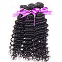 人間の髪編む インディアンヘア カール 6ヶ月 3個 ヘア織り